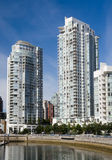 Apartment buildings. In downtown Vancouver royalty free stock photos