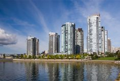 Apartment Buildings. In Downtown Vancouver royalty free stock image