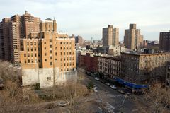 Apartment Buildings. New York City Apartment Buildings on the Lower East Side of Manhattan Stock Images