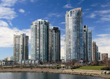 Apartment Buildings. In Downtown Vancouver Royalty Free Stock Photography