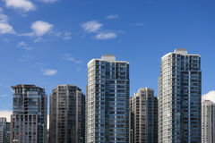 Apartment Buildings. In Downtown Vancouver Stock Photography