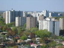 Apartment buildings. View of Toronto Royalty Free Stock Photography