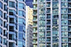 Apartment buildings. Tall condominium or apartment buildings in the city Royalty Free Stock Photos