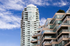 Apartment buildings. Downtown of Vancouver Royalty Free Stock Images
