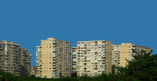 Apartment Buildings. Against Blue Sky Royalty Free Stock Photos