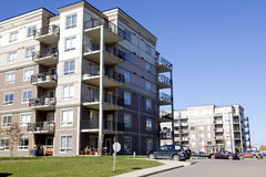 Apartment buildings, Alberta, Canada Royalty Free Stock Photography