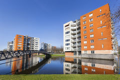 Apartment Buildings And Water Stock Image