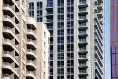 Apartment buildings with balconies Royalty Free Stock Photo