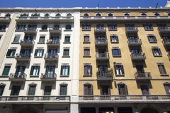 Apartment Buildings in Barcelona, Spain Royalty Free Stock Photography