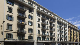 Apartment Buildings in Barcelona, Spain Royalty Free Stock Images