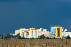 Apartment Buildings in Bratislava. Near a Cornfield Royalty Free Stock Photo