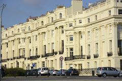 Apartment buildings in Brighton. England Stock Images