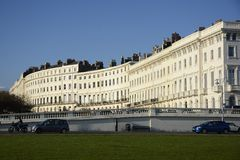 Apartment buildings on Brighton Seafront. England Stock Photography