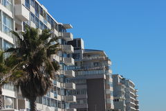 Apartment Buildings IN Cape Town. Beautiful apartment buildings in Cape Town Stock Photography