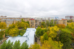 Apartment buildings in the central district of Moscow Royalty Free Stock Photo