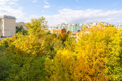Apartment buildings in the central district of Moscow Royalty Free Stock Photography