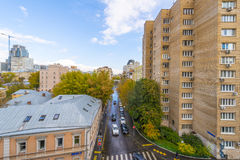 Apartment buildings in the central district of Moscow Royalty Free Stock Photos