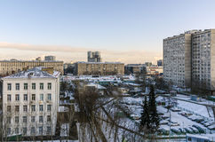 Apartment buildings in the central district of Moscow Royalty Free Stock Images