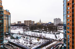 Apartment buildings in the central district of Moscow Stock Images