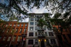 Apartment buildings in Chelsea, Manhattan, New York. Royalty Free Stock Image