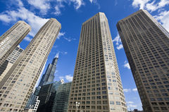 Apartment buildings in Chicago Stock Images