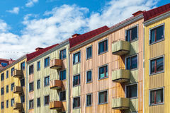 Apartment buildings in the city of Karlskrona, Sweden Stock Photos