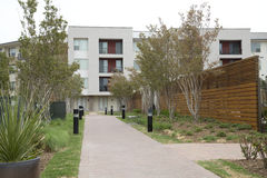 Apartment buildings in the community royalty free stock images