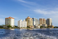 Apartment Buildings in Fort Lauderdale Royalty Free Stock Photo