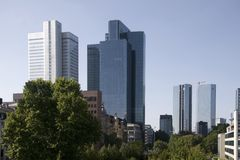 Apartment buildings in Frankfurt am Main Stock Photo
