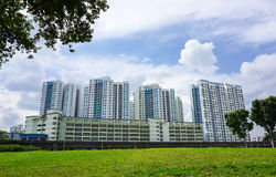 Apartment buildings in Geyland, Singapore Royalty Free Stock Images
