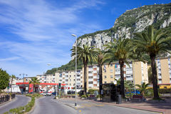 Apartment Buildings by the Gibraltar Rock Stock Photo