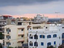 Apartment Buildings, Greece Stock Photos