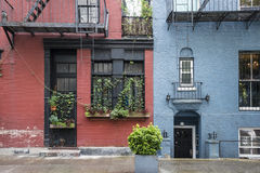 Apartment buildings, Greenwich Village, New York City Stock Photography