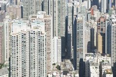 Apartment buildings in Hong Kong Royalty Free Stock Photo