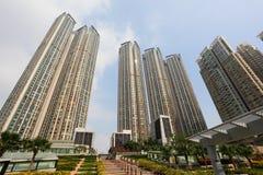 Apartment buildings in Hong Kong Stock Images