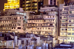 Apartment buildings in Hong Kong. Royalty Free Stock Images