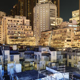 Apartment buildings in Hong Kong. Royalty Free Stock Photography
