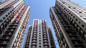 Apartment buildings in HongKong royalty free stock photo