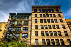 Apartment buildings in Manhattan, New York. Royalty Free Stock Photography