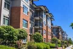Apartment Buildings. Modern apartment buildings in Richmond, British Columbia, Canada Stock Image