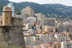 Apartment Buildings in Monaco Stock Photo