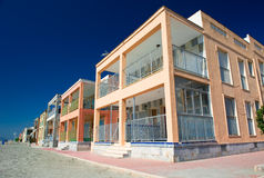 Apartment buildings near the sea in Santa Pola Stock Photos