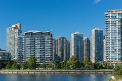 Apartment Buildings. New apartment buildings in Downtown Vancouver Royalty Free Stock Image