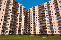 Apartment Buildings. New apartment buildings in a new neighborhood in the city Stock Image