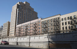 Apartment buildings New York USA Royalty Free Stock Image