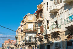 Apartment buildings in old Jaffa Stock Photography
