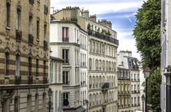 Apartment buildings in Paris Stock Images