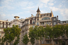 Apartment buildings in Paris Royalty Free Stock Images