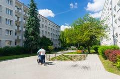 Apartment buildings Piastowskie area Stock Images