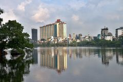 Apartment buildings in residential area of Hanoi, Vietnam. Stock Photography